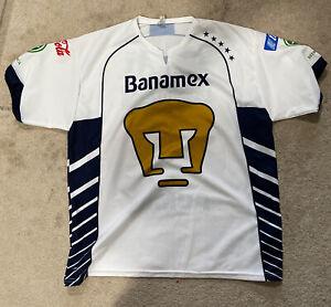 Banamex Jersey White Marti Boletazo Adult X-Large Vintage Futboll Soccer Pumas