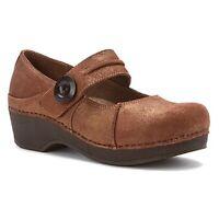 Dansko Beatrice Brown Treated Nubuck Mary Jane Clogs Shoes Womens 41 US 10.5 -11