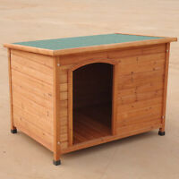 Dog Kennel NEW SIZE 117*86*84CM X-Large Log Cabin Timber Pet  House P016