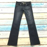 "Refuge Womens Jeans size 5 Juniors Long Tall 33""Dark Wash Bootcut Cotton Stretch"