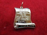 53a949739f14b 14 KT GOLD EP DECLARATION OF INDEPENDENCE PATRIOTIC CHARM W/18