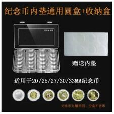 Genuine Airtite Coin Holder Capsule 60pc+Box For Coin Diameter 20/25/27/30/33mm
