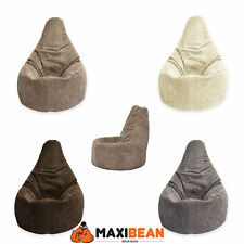 Beanbag Gamer corduroy Arm Chair Adult GAMING Bean Bag jumbo cord Game Seat POD