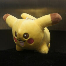 "4"" Pokemon Anime Animal Plush Lying Pikachu Soft Cute Gift Keychain New PKM #025"