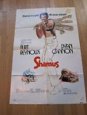 SHAMUS Original 1973 poster Burt Reynolds Dyan Cannon