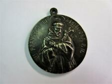 More details for antique 19th century st. francisce de assisi medal - high quality!