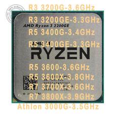 AMD Ryzen 3 3200G 3200GE 5 3400G 3400GE 3600 3600X 7 3700X 3800X 3000G AM4 CPU
