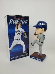 LA Dodgers Walker Buehler Signed Bobblehead w/ World Series Patch Beckett COA