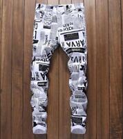 2019 Mens Patchwork Jeans Pants Night club denim jeans pants trousers