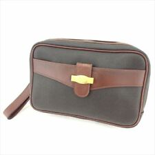 Dunhill Clutch bag Brown Black PVC leather Mens Authentic Used S982