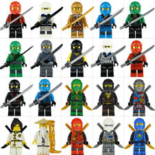 20 Sets Ninjago Jay Cole Ninja with with Weapons  Mini figures Fit Lego Toys