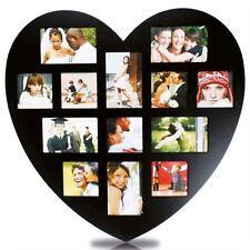 Deko-Bilderrahmen-Collagen aus Holz mit Herz-Schliffform
