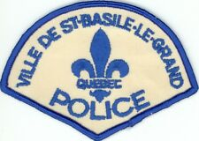 St-Basile-Le-Grand Police, Quebec, Canada HTF Vintage Uniform/Shoulder Patch