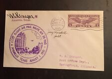 1931 First Flight Cover Amarillo TX CAM 33S26 Pilot Signed Jerry Marshall d 1936