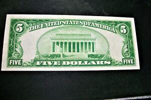 1928 Five Dollars Bill ATLANTA   GOLD