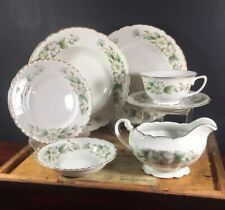 Embassy Usa Vitrified China Dogwood Various Pieces Plate, Bowl, Serving Dishes