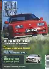 RETROVISEUR n°185 AUDI QUATTRO ALPINE GT & A610 TATRA 87 PEUGET 402 ECLIPSE