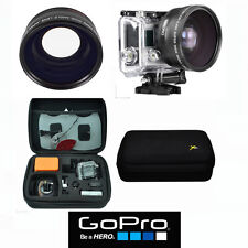 .X43 HD WIDE ANGLE LENS + MACRO + HARD SHELL CASE FOR GOPRO HERO4 HERO5 BLACK