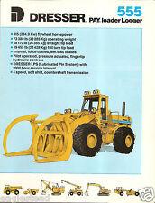 Equipment Brochure - Dresser - 555 - Payloader Logger - 1988 (Eb862)