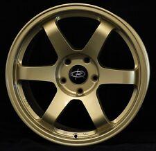 GOLD 17X9 +42 ROTA GRID 5X100 WHEELS FIT SCION TC FR-S GT86 BRZ WRX NEON SRT 4