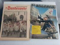 KONVOLUT 2 Zeitschriften Unsere Bundeswehr 1957 / Die Bundeswehr 1957