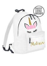 Personalised glitter kids name unicorn rucksack, backpack, school bag