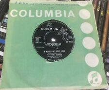 """PETER AND GORDON:""""A WORLD WITHOUT LOVE""""1964COLUMBIA+COVER.BEATLES SONG.EXCELLENT"""