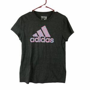 Adidas Womens Gray Short Sleeve Shirt Large