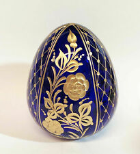Collectible Genuine Russian Glass Egg AUTHENTIC Russian Floral Designs Gift 4""