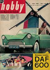 hobby,Das Magazin der Technik 7/1958 Juli,DAF 600,Dritte Weltmacht Europa