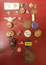 Vintage Military Masonic Boy/Cub Scouts Pam Am & Other Junk Lot
