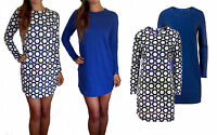 Ladies Knitted Knit Stretch Jumper Dress Long Casual Day Plus Size XS S M L XL