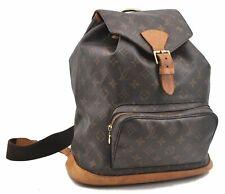 Authentic Louis Vuitton Monogram Montsouris GM Backpack M51135 LV A5715