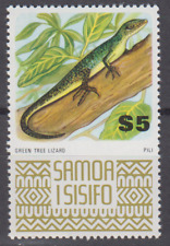 PP246 - SAMOA STAMPS REPTILE/GREEN TREE LIZARD $5.00 MINT NEVER HINGED