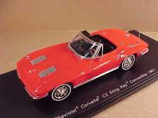 Spark 1/43 Resin 1963 Chevrolet Corvette C2 Sting Ray Open Top, Red  #S2969