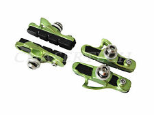 New Road Bicycle Bike Caliper Cartridge Brake Pads Shoes Lime Green 2 Pairs