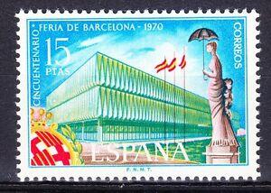 Spain 1970 MNH**Mi 1863 Sc 1609 Barcelona Fair building & monument