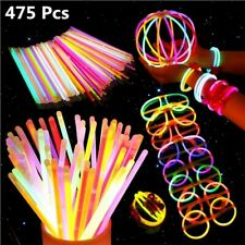 1 SET 8'' Glow Sticks Bracelets Necklaces Fluorescent Neon Light Sticks Party