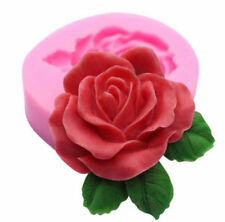 Rose with Leaves Mini Silicone Pan for Fondant, Gum Paste, Chocolate, Crafts