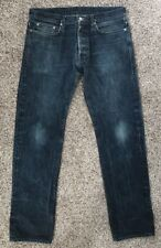 Mens Helmut Lang Raw Selvedge Jeans Size 34 X 33 Button Fly
