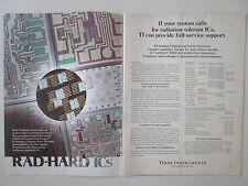 1/1973 PUB TEXAS INSTRUMENTS ELECTRONIC RAD-HARD ICs INTEGRATED CIRCUITS AD