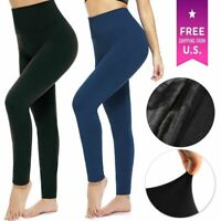 Women Warm Slimming Seamless Women Winter High Waist Spanx Fleece Lined Legging