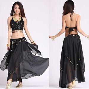 AU Belly Dance Costume (5 Flower Top, Skirt,belt )Colors sets Carnival Dress