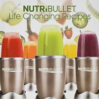 NUTRIBULLET Life Changing Recipes BOOK NUTRI BULLET FREE SHIPPING! NEW FROM BOX!