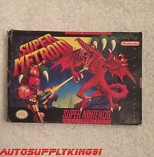 SUPER METROID Super Nintendo SNES 1994 Game Complete CIB Rare Mint 100% Tested