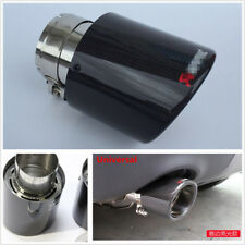 One 100% Real Carbon Fiber Car SUV Exhaust Muffler Pipe 63mm Inlet/114mm Outlet