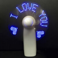 1PC LED Mini Colorful Light Fan Portable Handheld Cooling Fan Battery PowDS