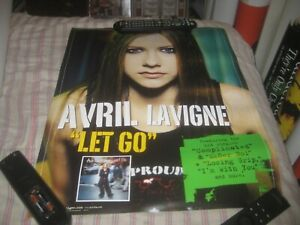 AVRIL LAVIGNE-LET GO-1 POSTER-17X22 INCHES-2 SIDED-NMINT-RARE!!!