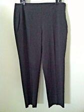 Talbots 14 petite women pant gray side zipper stretch taper leg size