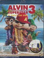 Blu-ray + Dvd «ALVIN SUPERSTAR 3 ♥ SI SALVI CHI PUÒ» nuovo sigillato 2011